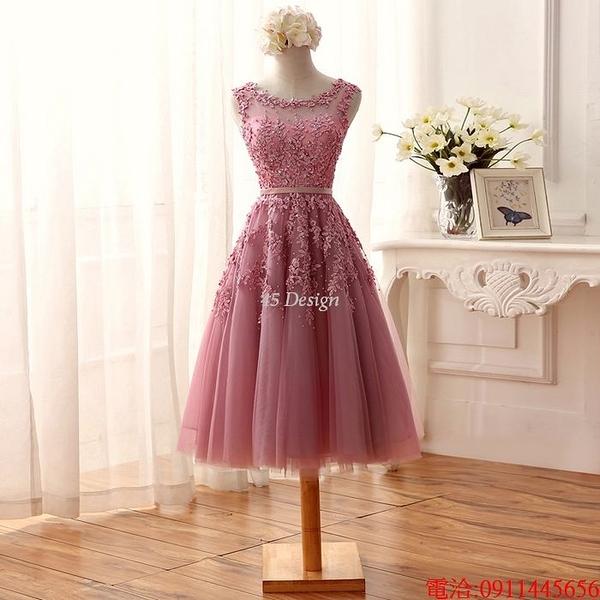 (45 Design)  7天到貨 禮服婚紗晚禮服短款晚宴年會 結婚小禮服短裙 大小顏色款式都能訂製8