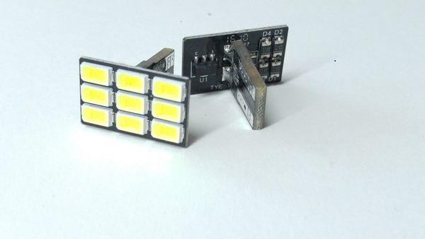 「炫光LED」T10- T型9晶-白光 小燈 車門燈 室內燈 牌照燈 閱讀燈 後行李箱燈 汽機車LED燈泡