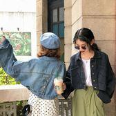 (交換禮物)早秋港風新款韓版chic百搭寬鬆原宿風外套復古短款長袖牛仔衣潮女