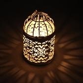 歐式鐵藝鏤空香薰蠟燭燭臺 蠟燭臺裝飾品 婚慶蠟燭杯燭光晚餐道具