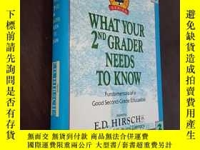 二手書博民逛書店WHAT罕見YOUR 2ND GRADER NEEDS TO KNOW你的二年級學生需要知道Y12880 Ed