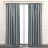 迴紋緹花雙層遮光半腰窗簾 270x165cm 淺綠灰