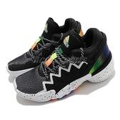 adidas 籃球鞋 D.O.N. Issue 2 J 黑 白 女鞋 大童鞋【ACS】 FZ1423