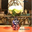 陶瓷器青花瓷手繪冰梅花瓶新古典仿古客廳餐桌乾花花插花器