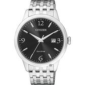 CITIZEN 星辰 光動能紳士手錶-黑x銀/40mm BM7300-50E