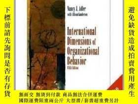 二手書博民逛書店International罕見Dimensions of Organizational BehaviourY2