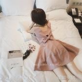 洋裝女夏2021新款韓版修身露背仙女超仙甜美小個子裙子夏季  【韓語空間】
