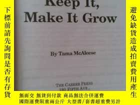 二手書博民逛書店MONEY罕見: How to get it , keep it ,and MAKE IT GROWY1928