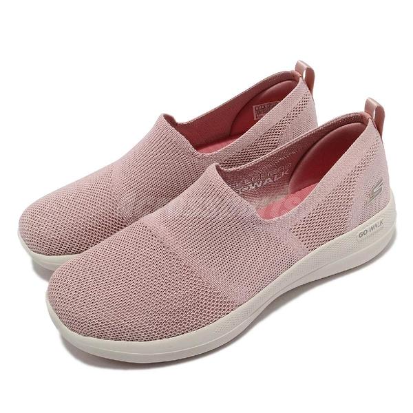 Skechers 健走鞋 Go Walk Stability-Dessert Roses 女鞋 粉色 白 輪胎大底【ACS】 124601-LTPK