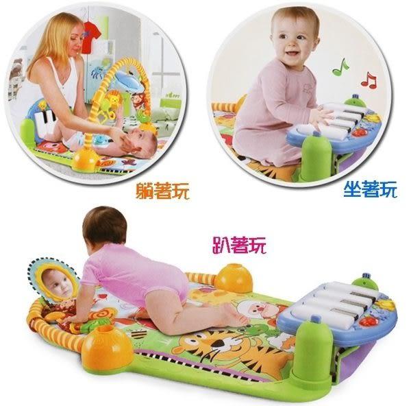*粉粉寶貝玩具*YaYaYa多功能加厚款腳踏鋼琴健身架~嬰幼兒聲光健力架爬行墊~寶寶音樂遊戲毯
