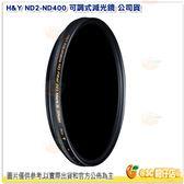 H&Y ND2-ND400 58mm 可調式減光鏡 公司貨 可調 減光 濾鏡 德國 玻璃