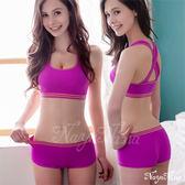 玩色!撞色彩條無縫低腰平口褲S-XL 紫色 (OS小舖)
