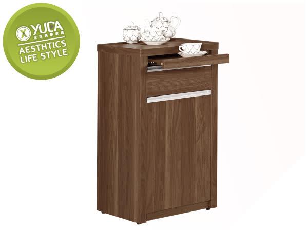 【YUDA】北歐風格 維爾達 浮雕木紋 1.5尺拉盤 收納櫃/餐櫃/置物櫃 J8M 408-4