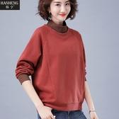 韓版寬鬆套頭衛衣女春秋新款秋裝中年媽媽長袖休閒大碼上衣服促銷好物