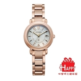 CITIZEN星辰 Eco-Drive 廣告商品 光動能電波鈦金屬腕錶ES9444-50B 玫瑰金