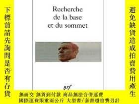 二手書博民逛書店Recherche罕見De La Base Et Du SommetY255562 René Char Gal