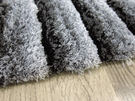 范登伯格 彩之舞 漸層條紋厚蓬地毯-深灰-50x150cm