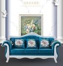歐式布藝沙發小戶型客廳組合奢華公寓三人位整裝可拆洗簡歐沙發「時尚彩紅屋」