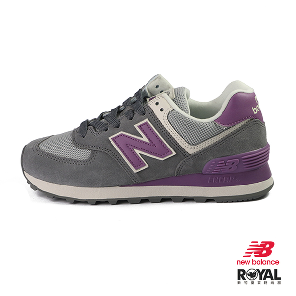 New balance 574 灰紫色 麂皮 運動休閒鞋 女款 NO.J0021【新竹皇家 WL574LDB】