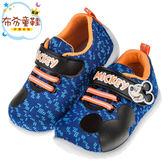 《布布童鞋》Disney迪士尼米奇藍色數位迷彩兒童休閒鞋(14~18公分) [ D7Q025B ]