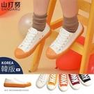 餅乾鞋 工業風輪胎紋厚底帆布鞋-山打努SANDARU【098655#46】