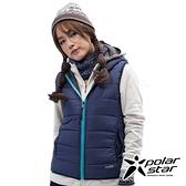PolarStar 女 鋪棉雙面保暖背心『藍紫』P18212 戶外 休閒 登山 露營 保暖 禦寒 防風 連帽