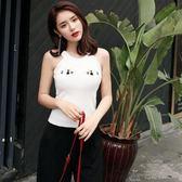吊帶背心女百搭外穿外搭夏季氣質淑女短款性感韓版學生無袖上衣女     俏女孩