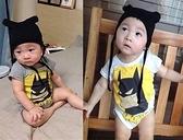 短袖包屁衣 夏款蝙蝠俠連身衣(含帽子) S51024