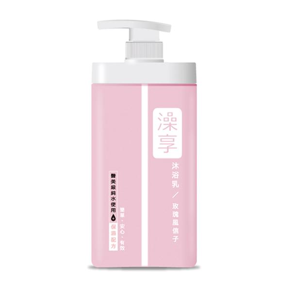 澡享沐浴乳-玫瑰風信子1000ml【康是美】