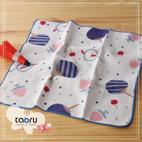 日本毛巾 : 和的風物詩 夏祭典 30*30 cm (手巾 夏夜 -- taoru 日本毛巾)