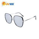UV100 防曬 抗UV UV400太陽眼鏡-時尚金屬六邊