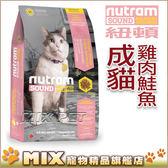 ◆MIX米克斯◆【買一送一】紐頓.S5成貓(雞肉+鮭魚)【6.8KG】
