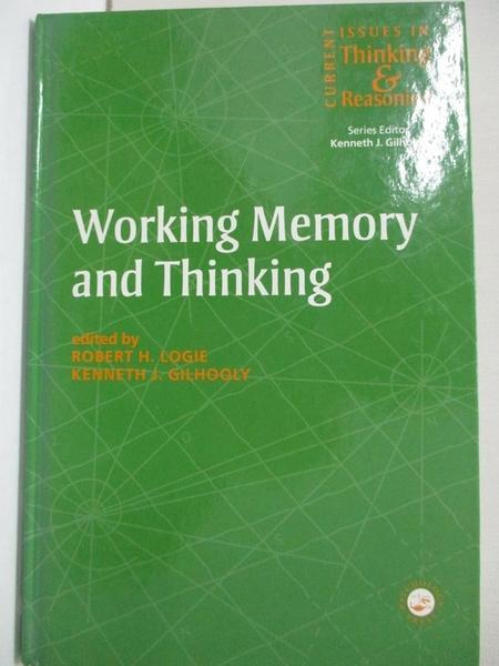 【書寶二手書T3/心理_KFV】Working memory and thinking_Logie, Robert H. (EDT)/ Gilhoo