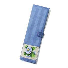 高級藍色印花環保筷袋