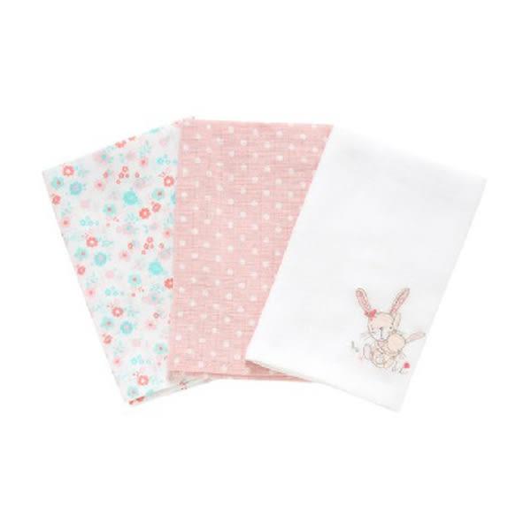 mothercare 冒險兔兔紗布巾3入