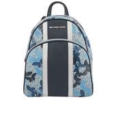 【MICHAEL KORS】Abbey蝴蝶LOGO PVC後背包(中)(藍色) 35T9SX7B2B SAPHR