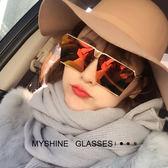 街拍網紅太陽鏡女潮明星款大框方形墨鏡復古男士偏光開車眼鏡 英雄聯盟