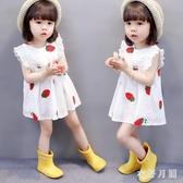女童連身裙夏裝 兒童公主洋裝裙小童洋氣2時尚3潮女寶寶裙子夏款1-4歲LXY7238【衣好月圓】
