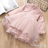 春季新款童裝女童民族風蕾絲童裙燈籠袖兒童公主裙洋裝 安妮塔小鋪