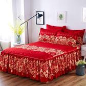 床裙單件全棉床罩純棉床笠 床蓋套床單1.8米1.5m床 防滑保護套   小時光生活館