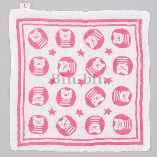 彩虹熊 雙層紗布方巾/825-695