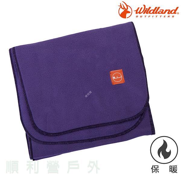 荒野WILDLAND 輕柔PILE保暖圍巾 W2010 紫羅蘭 刷毛圍巾 不易產生靜電 OUTDOOR NICE
