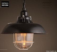 INPHIC- 工業風格復古吊燈美式創意咖啡館酒吧吧台鍋蓋鳥籠單頭吊燈-M款_S197C
