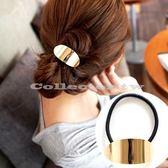韓國流行髮飾-簡約金屬圓弧髮圈 韓版髮飾髮圈