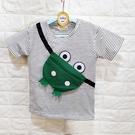 棒棒糖童裝(A66832)夏男童條紋立體青蛙款上衣 5-17
