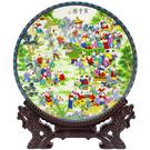 【吉祥開運坊】求子系列【增加人氣 求子 瓷盤百子圖 景德鎮製作】開光加持擇日安置