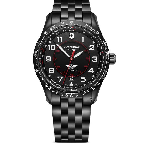 Victorinox 瑞士維氏 Airboss Black Edition 自動上鏈機械三針腕錶 VISA-241974
