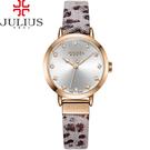 JULIUS 聚利時 甜心豹紋皮錶帶腕錶-大象灰/28mm【JA-976C】
