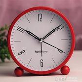 鬧鐘靜音簡約床頭創意鐘錶個性學生鬧鐘女韓版可愛小鬧鐘迷你台鐘 溫暖享家