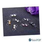 耳夾 ATeenPOP 耳環夾式 簡約珍珠 無洞耳環  矽膠 抗過敏*一對價格*